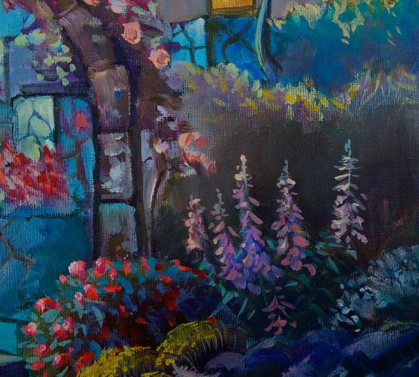 картина маслом ночной сад