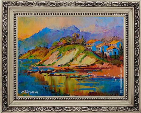 картина море и горы