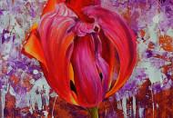 тюльпан картина акриловыми красками