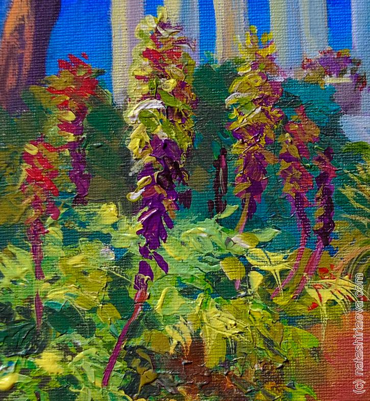 картина сад