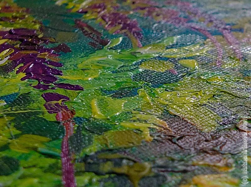 детали картины акриловыми красками