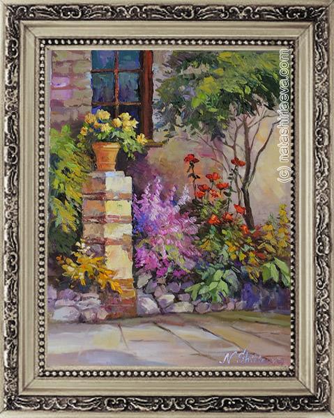 купить картину маслом сад