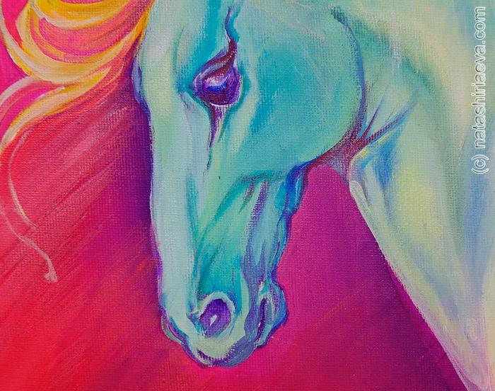 голова лошади картина