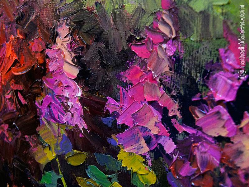 Детали картины - цветы