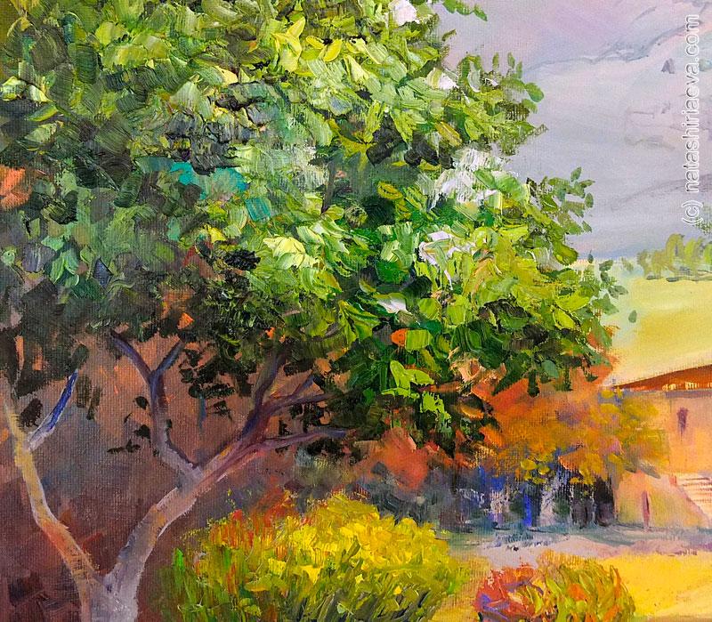 Детали картины - дерево