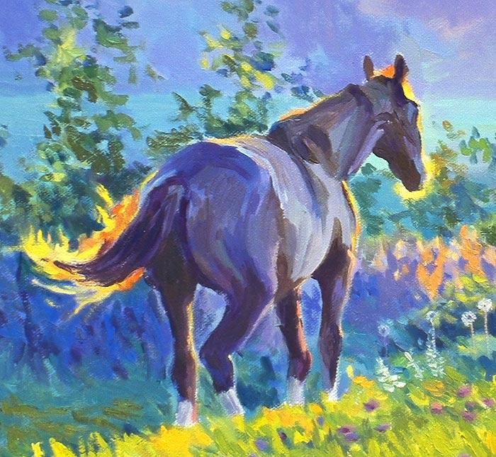 лошадь маслом