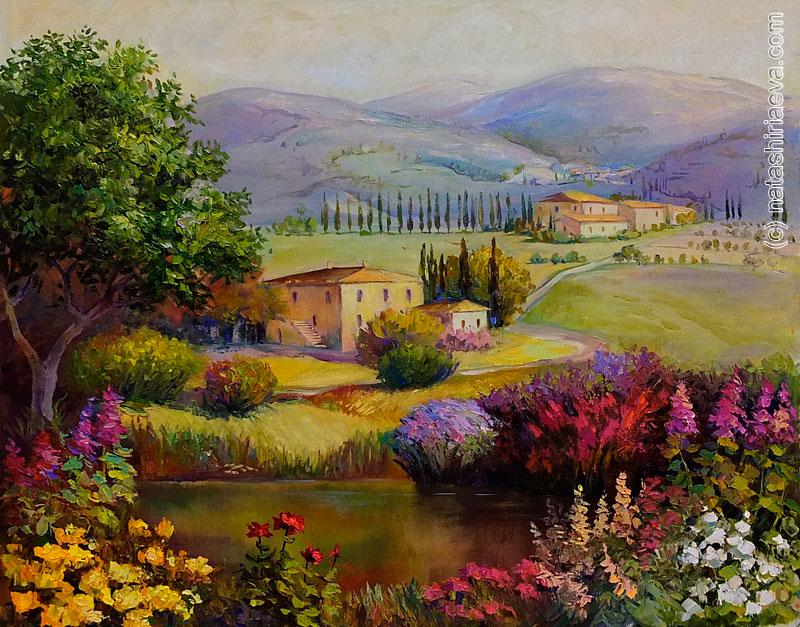 Мечты о Провансе - картина маслом 1