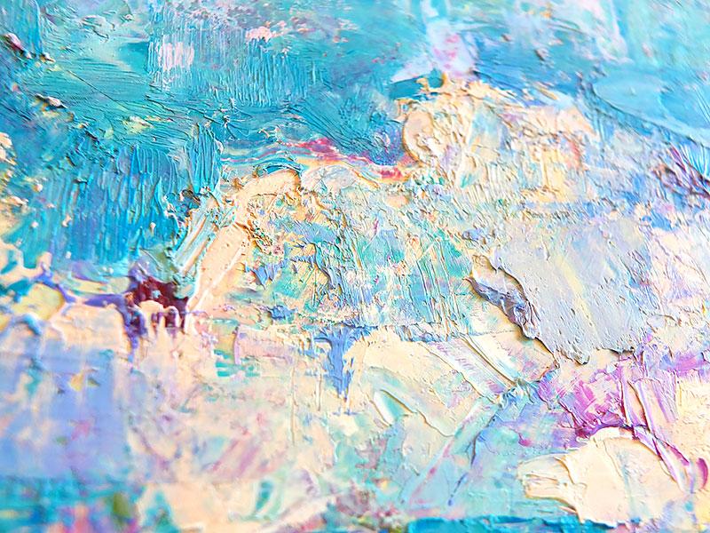 Фрагмент картины - многослойная живопись