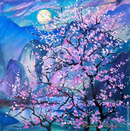 Картина с сакурой - Ночь благоухания