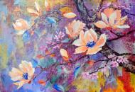 Магнолии и Сакура - картина маслом художник Наталия Ширяева