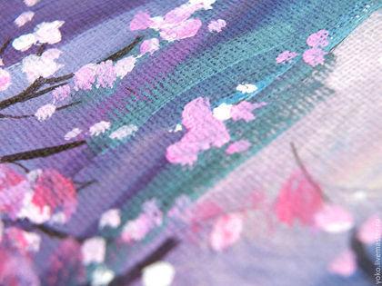 Фрагмент картины - лепестки сакуры