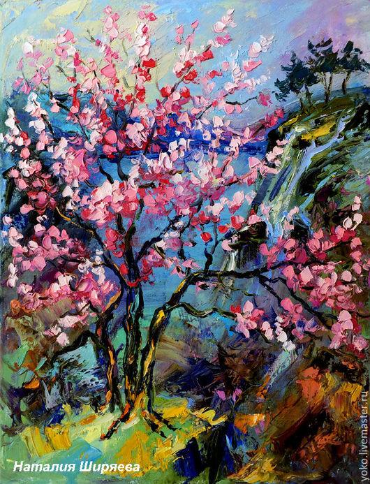 """Картина """"Сакура на Озере Mae Kuang"""""""
