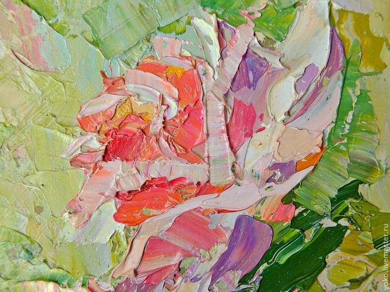 Благоухание роз - картина маслом 6