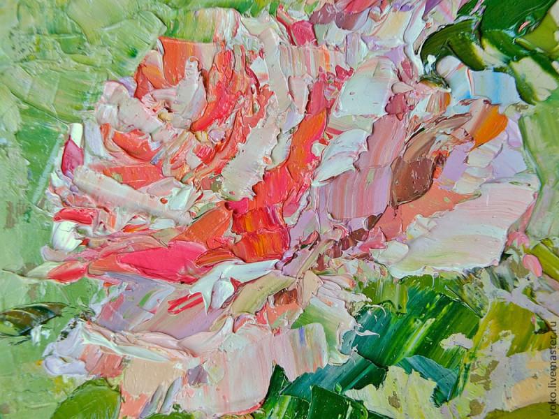 Благоухание роз - картина маслом 2