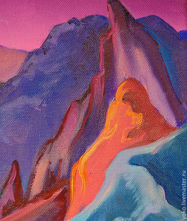 Ночь в заливе Вайолетт - картина маслом 5