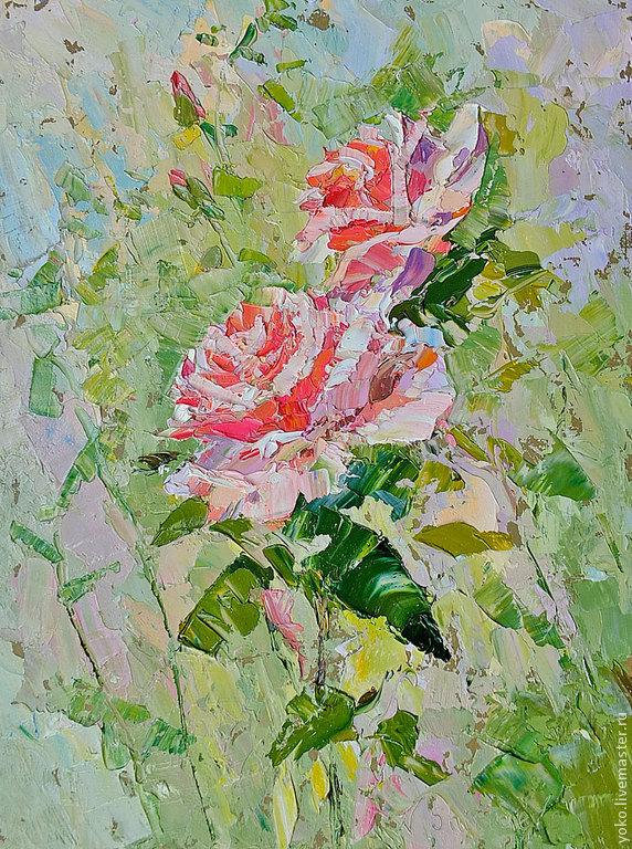 Благоухание роз - картина маслом
