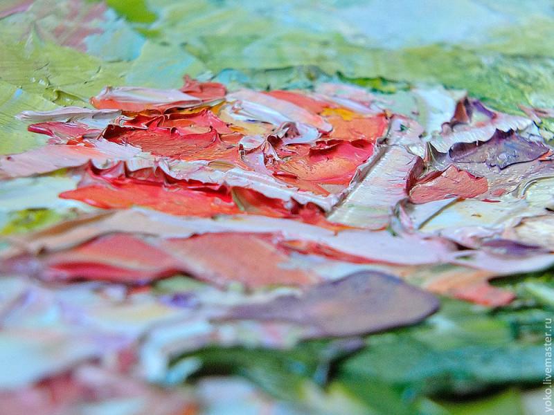 Благоухание роз - картина маслом 4