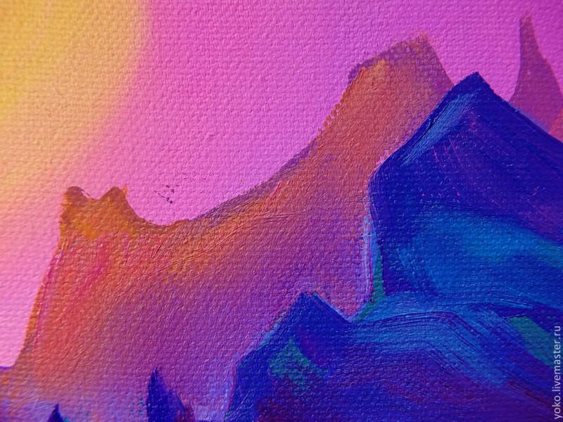 Ночь в заливе Вайолетт - картина маслом 3