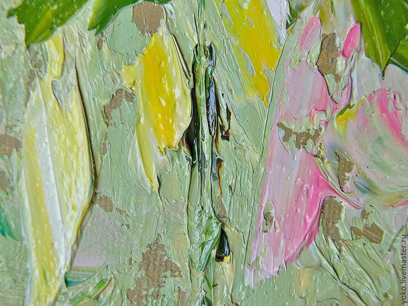 Благоухание роз - картина маслом 5