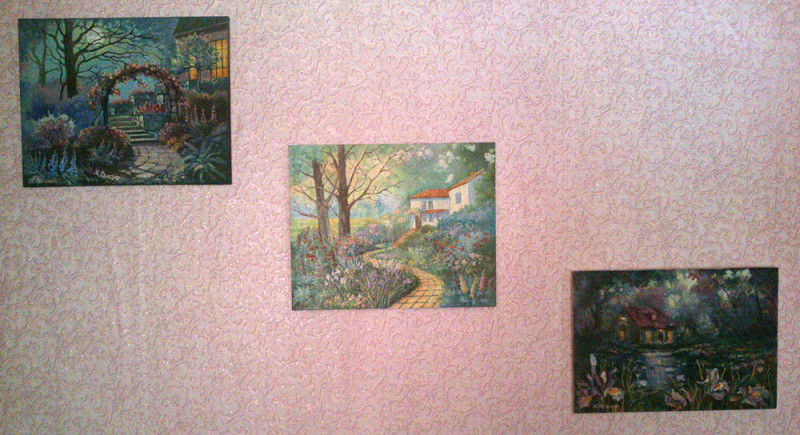 Картины маслом с домиками