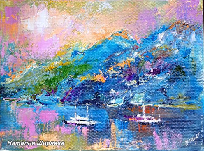 """Картина """"Яхты в Заливе Калим"""""""
