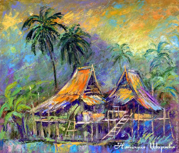 """Картина Таиланда """"Тропический Вечер"""""""
