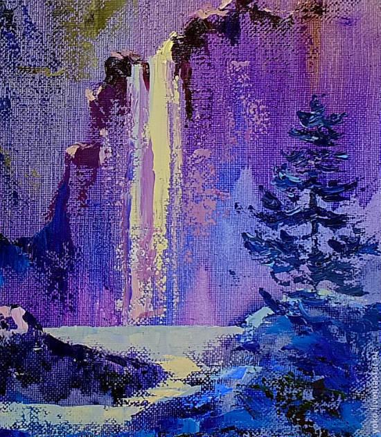 Фрагмент картины - водопад