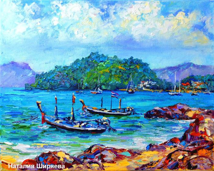 """Картина """"Пхукет. Пляж Панва в сезон дождей"""""""