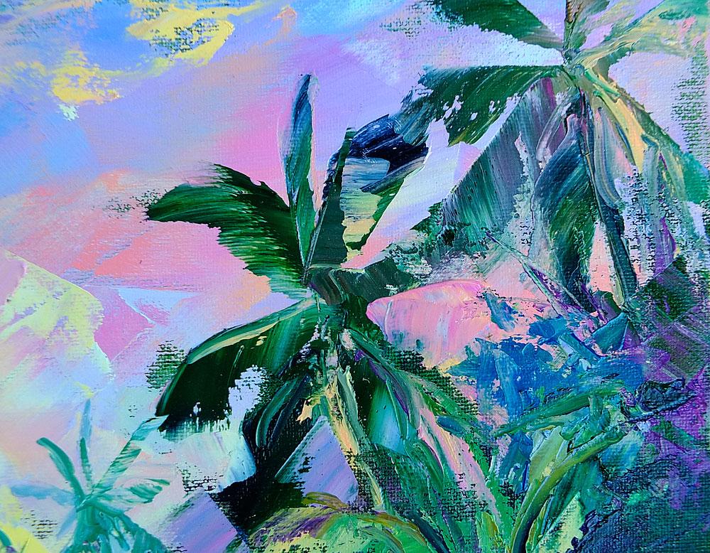 Фрагмент картины - пальмы