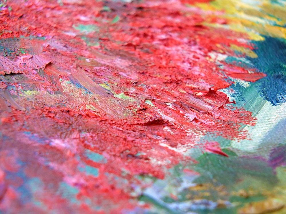 Насыщенная картина маслом на холсте