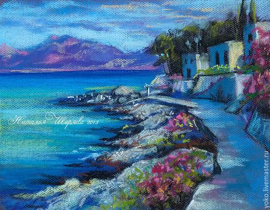 """Пейзаж с морем пастелью """"Пхукет. Kamala Beach"""""""