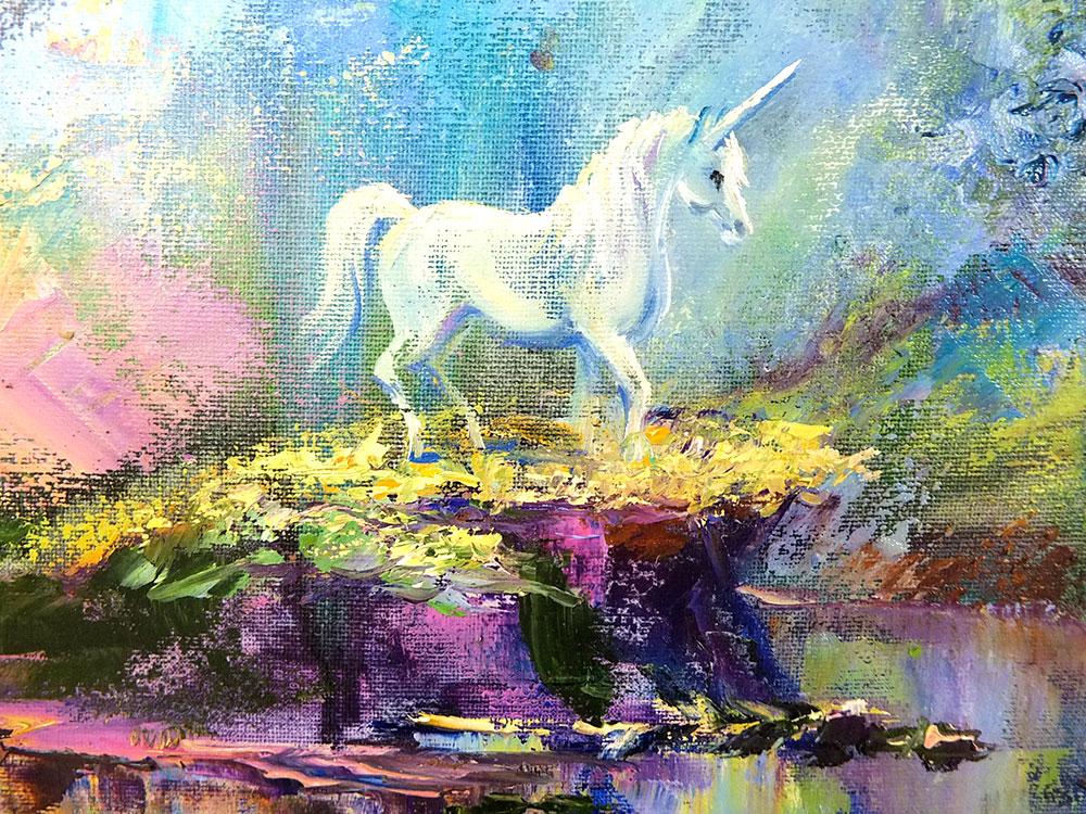 Картина с единорогом от Наталии Ширяевой