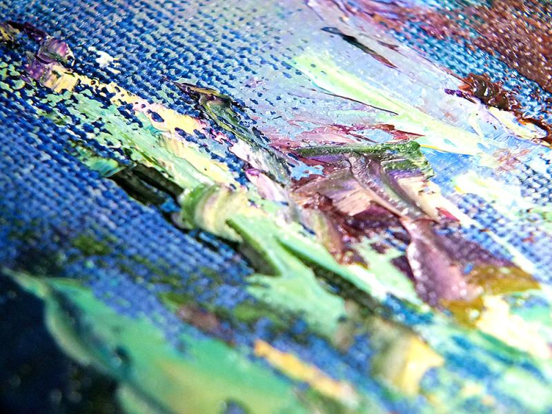 """Фрагмент картины """"Легенда о Единороге"""" от Наталии Ширяевой - мазки маслом"""