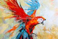 Картина яркого попугая