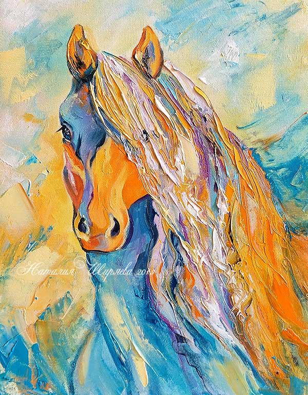 Солнечная Лошадь - картина маслом