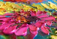 Фрагмент картины с букетом цветов