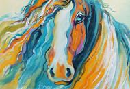 """Картина с лошадью """"Вместе с Ветром"""""""
