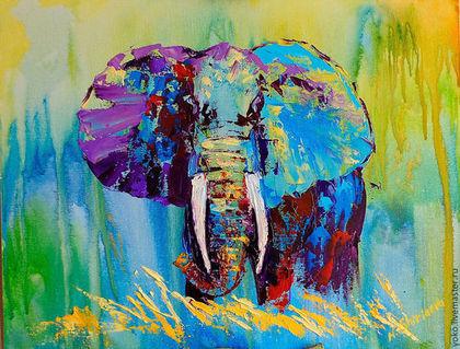 Картина со слоном - первая