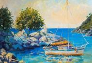 """Картина с яхтой """"Пхукет. Hua Beach"""""""
