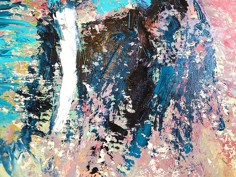 Картина со слоном - живопись маслом