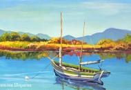"""Картина с яхтой """"Тихое Тихое Утро"""""""