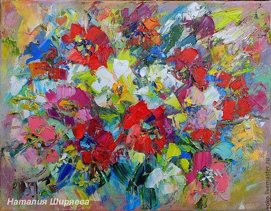 Многоцветное Видение - картина маслом с цветами