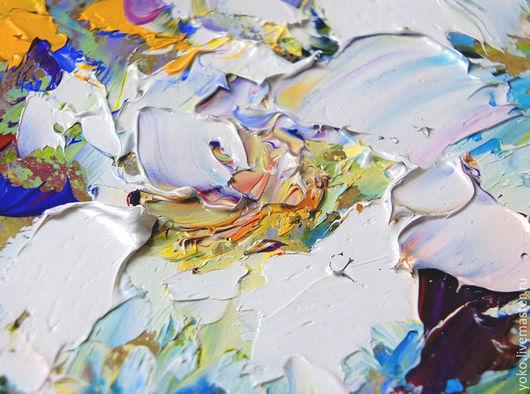Фрагмент картины маслом  - Букет с Белыми Лилиями