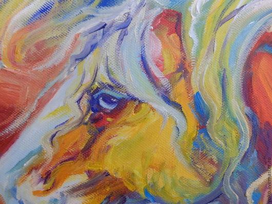Фрагмент картины - глаза лошади