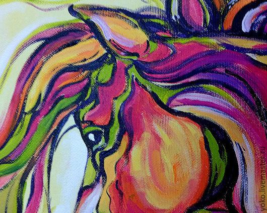 Фрагмент картины с лошадью - глаза