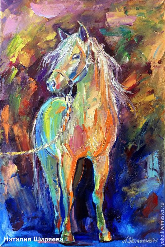 Картина с лошадью - Перед прогулкой