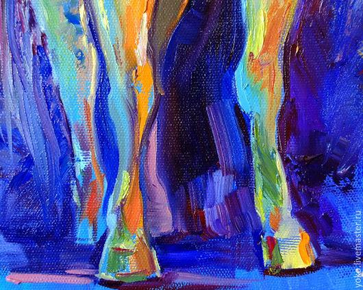 Фрагмент картины с лошадью - ноги и копыта