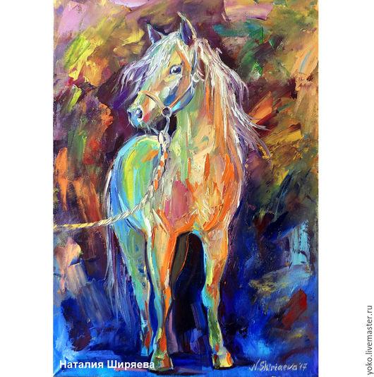 Картина с лошадью - Перед Прогулкой - холст масло