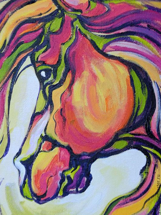 Фрагмент картины с лошадью - морда