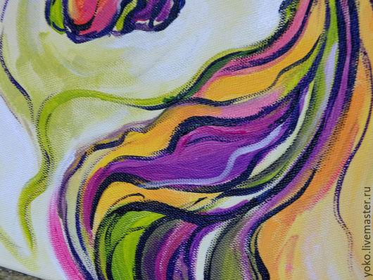 Фрагмент картины с лошадью - волны гривы